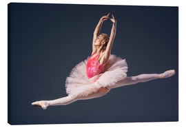 Lienzo  pink tutu and pointe shoes