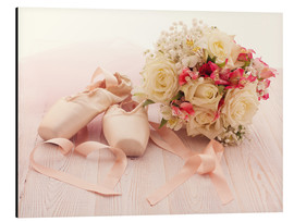 Cuadro de aluminio  Ballet shoes with bouquet
