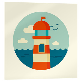 Metacrilato  Lighthouse in a circle - Kidz Collection