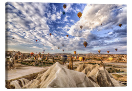 Lienzo  Balloon spectacle Cappadocia - Turkey - Achim Thomae