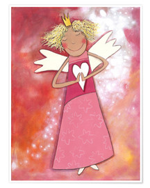 Póster  Blonder guardian angel for girls - Atelier BuntePunkt
