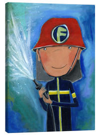Lienzo  My little hero Fireman Julius - Atelier BuntePunkt
