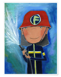 Póster  My little hero Fireman Julius - Atelier BuntePunkt