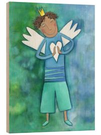 Cuadro de madera  Guardian Angels for boys - Atelier BuntePunkt