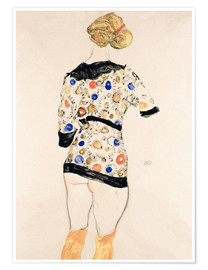 Póster Standing Woman in a Patterned Blouse