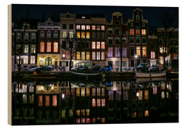 Cuadro de madera  Amsterdam   Keizersgracht in a mirror - Sabine Wagner