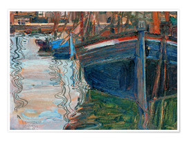Póster  Boats reflected in the water - Egon Schiele