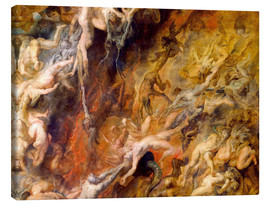 Lienzo  Hell of the Damned (Detail) - Peter Paul Rubens
