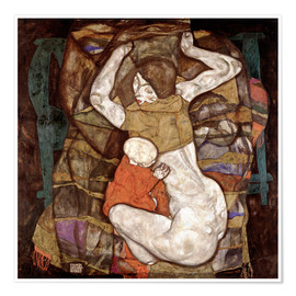 Póster  Young mother - Egon Schiele