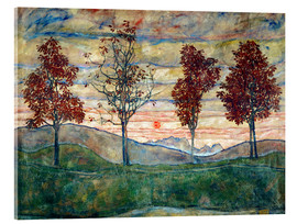 Metacrilato  Four trees - Egon Schiele