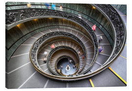 Lienzo  Staircase in the Vatican Museum in Rome - Jan Christopher Becke