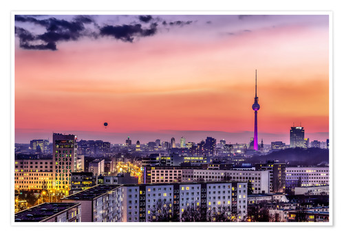 Póster Berlin skyline in summer