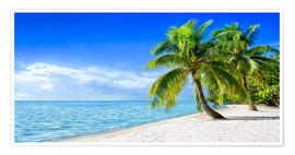 Póster  Holiday at the beach with palm trees and sea - Jan Christopher Becke