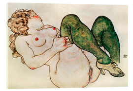 Metacrilato  Nude with green stockings - Egon Schiele