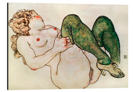 Aluminio-Dibond  Nude with green stockings - Egon Schiele
