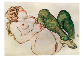 Forex  Nude with green stockings - Egon Schiele