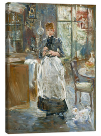Lienzo  In the Dining Room - Berthe Morisot