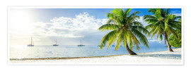Póster  Summer, sun, beach and sea in the Caribbean vacation - Jan Christopher Becke