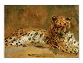 Póster  Reclining African Leopard - Max Slevogt