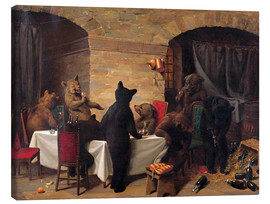 Lienzo  Bear Carousal - William Holbrook Beard