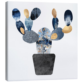 Lienzo  Blue And Gold Cactus - Elisabeth Fredriksson