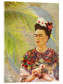 Cuadro de metacrilato  Frida con cervatillo - Moon Berry Prints