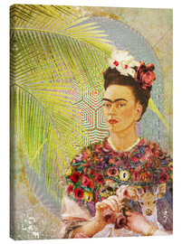 Lienzo  Frida con cervatillo - Moon Berry Prints