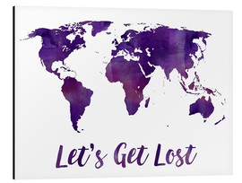 Aluminio-Dibond  World map purple - Mod Pop Deco