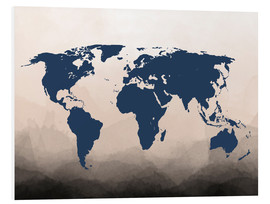 Cuadro de PVC  World Map Navy - Mod Pop Deco