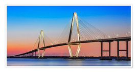 Póster Cooper River Bridge - Charleston