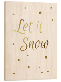 Cuadro de madera  Let it Snow - Finlay and Noa
