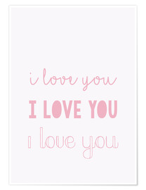 Póster I love you (inglés)
