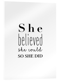 Cuadro de metacrilato  She believed (inglés) - Finlay and Noa