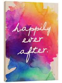 Cuadro de madera  Happily Ever After - Finlay and Noa