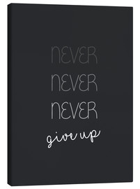 Lienzo  Never Give Up (inglés) - Finlay and Noa