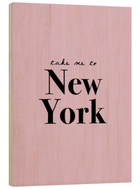 Cuadro de madera  Take Me To New York (inglés) - Finlay and Noa