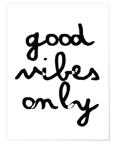 Póster Good Vibes Only (inglés)