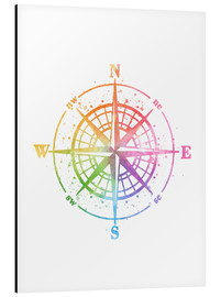 Cuadro de aluminio  Compass Watercolor - Mod Pop Deco