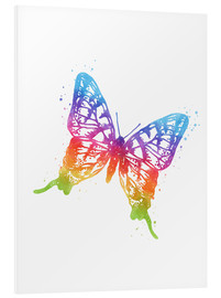 Cuadro de PVC  Butterfly Watercolor - Mod Pop Deco