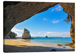 Lienzo  Cathedral Cove - Denis Feiner