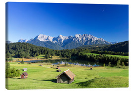 Lienzo  Sunny day at Geroldsee in Alps - Dieter Meyrl