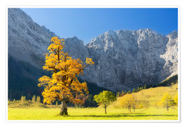 Póster Autumn in Alps