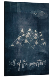 Cuadro de aluminio  call of the mountains - Sybille Sterk