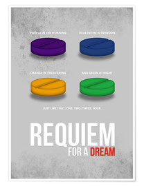 Póster Requiem for a Dream - Minimal Movie Poster Alternative