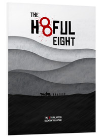 Cuadro de PVC  The Hateful Eight - Hateful 8 - Minimal Tarantino Movie Film Alternative Fanart - HDMI2K