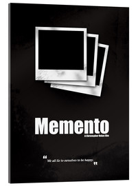 Cuadro de metacrilato  Memento - Minimal Movie Movie Cult Alternative - HDMI2K