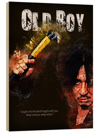 Cuadro de madera  Oldboy - Minimal Movie Movie Fanart Alternative - HDMI2K
