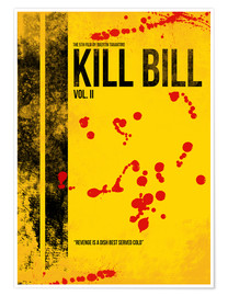 Póster Kill Bill 2 - Tarantino Minimal Film Movie Alternative
