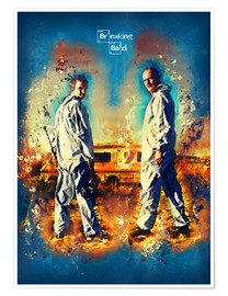 Póster  Breaking Bad - Walter White Series Show Alternative - HDMI2K
