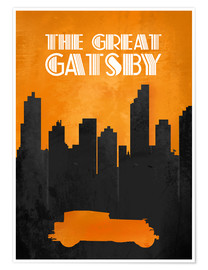 Póster  The Great Gatsby - Minimal Movie Film Fanart Alternative - HDMI2K